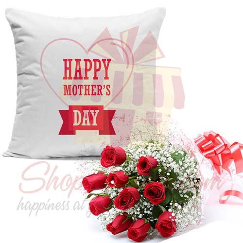 Imported Roses With Cushion