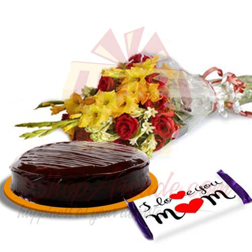 Cake Flowers With Love Choc