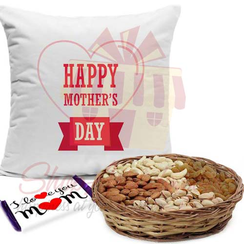 Cushion With Dry Fruits And Love Choc