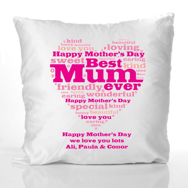Send personalized gifts mothers day cushion with your own text Gift ...