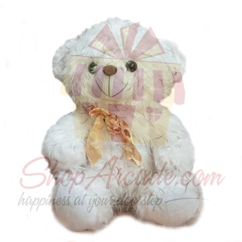 White Furry Bear 18 Inches