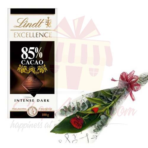 Lindt Choc Bar With Rose