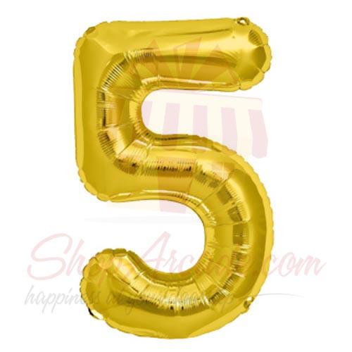 5 Number Balloon