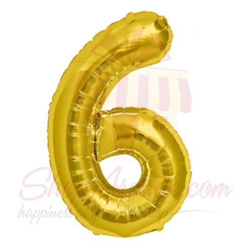 6 Number Balloon