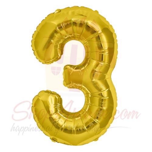 3 Number Balloon