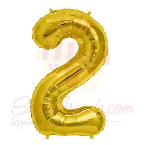 2 Number Balloon