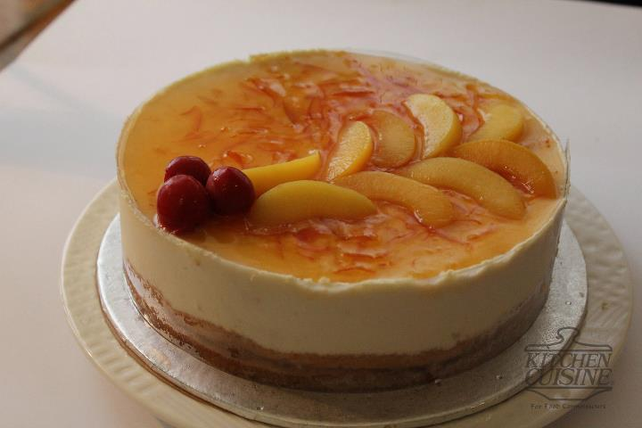 Peach Orange Mousse Cake 2lbs from Kitchen_Cuisine