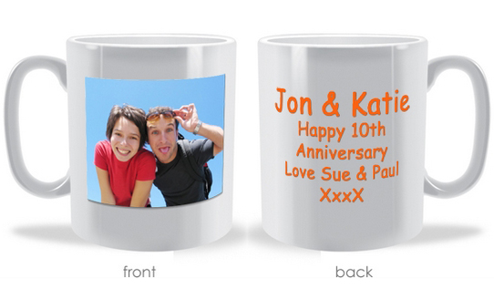 Personalize Picture and Text Mug