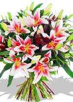 pink-lily-bouquet