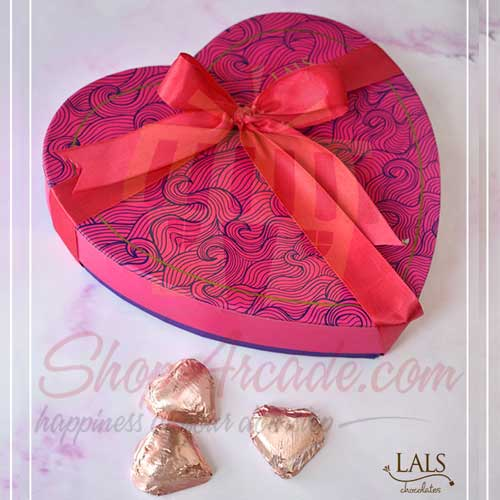 Send Chocolates And Sweets Pink Heart Box By Lals Gift To Pakistan