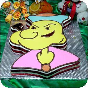 Popeye Cartoon Shape Cake 6 lbs