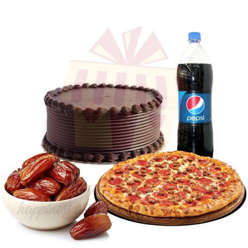 Cake with Dates n Pizza