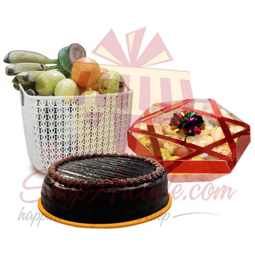 Fruit Mithai Cake