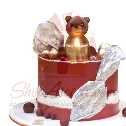 Bear With Candle Cake By Sachas