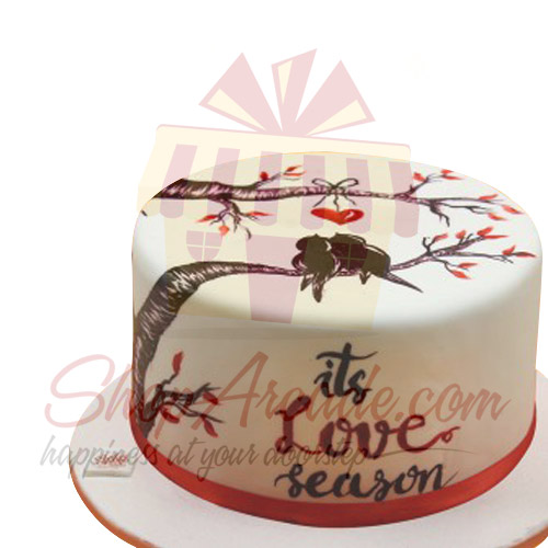 Hand Painted Love Cake By Sachas