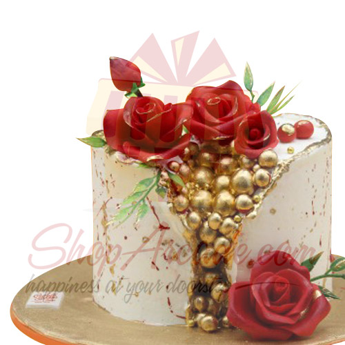 Golden Balls Cake By Sachas