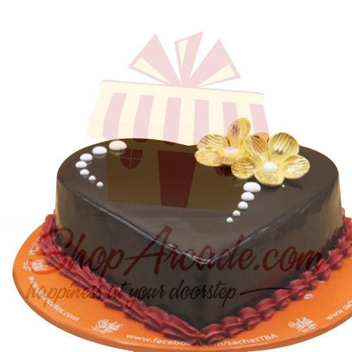 Chocolate Heart Cake By Sachas