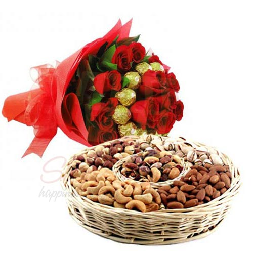 Dry Fruits N Choco Rose Bouquet
