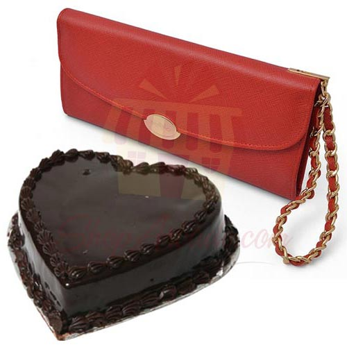 Wallet With Heart Cake