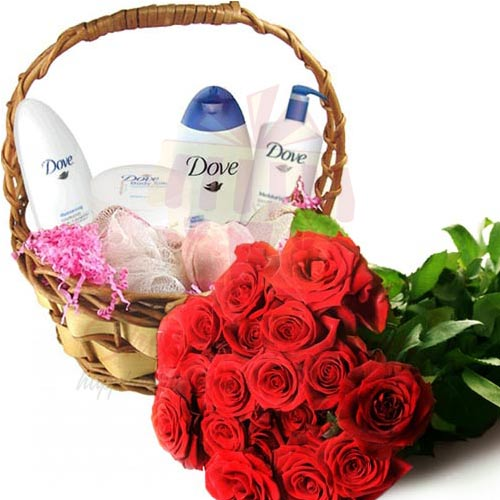 Roses With Dove Kit