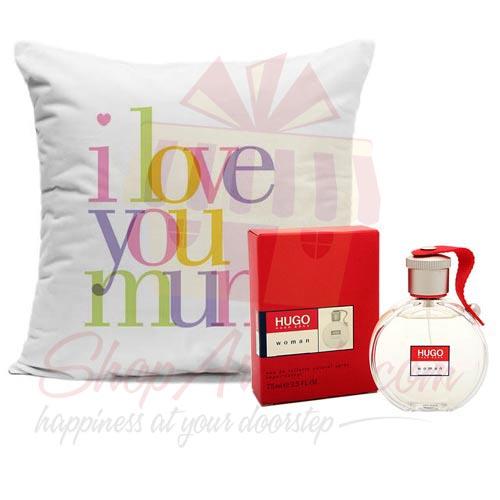 Mum Cushion With Perfume