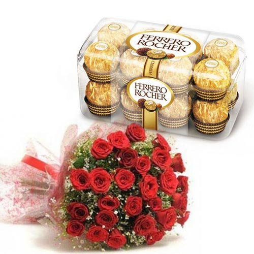 Ferrero With Rose Bunch