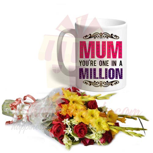 Bouquet With Mom Day Mug