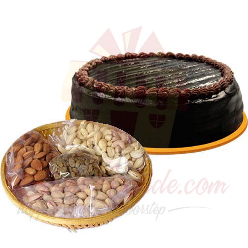 Chocolate Cake With Dry Fruits