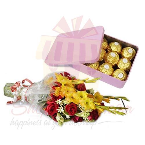 Flowers With Ferrero Tin