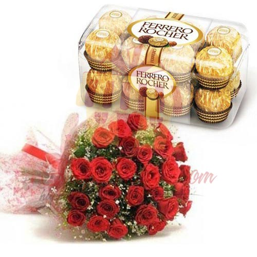 24 Red Roses Chocolates
