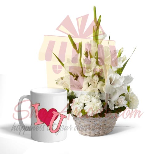 Glads Basket With Mug