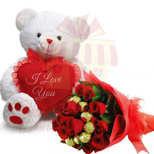 Choco Bouquet With Teddy