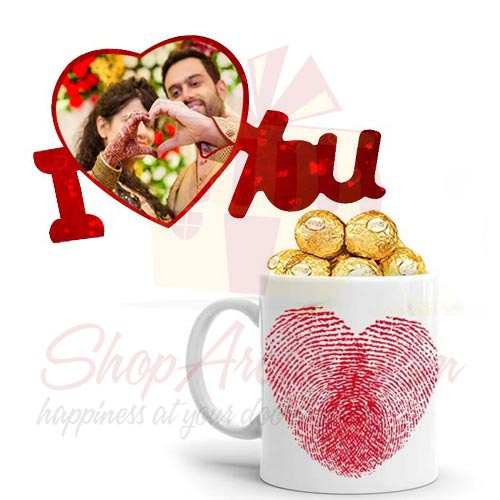 Love Picture Plaque With Mug