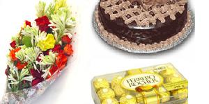 Flowers Cake Chocolates