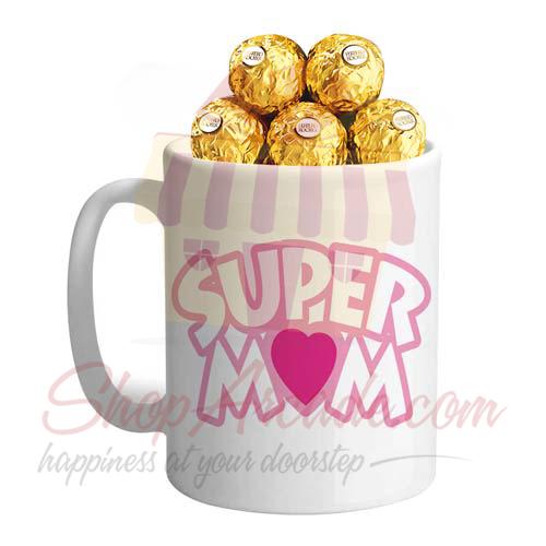 Rochers In A Super Mom Mug
