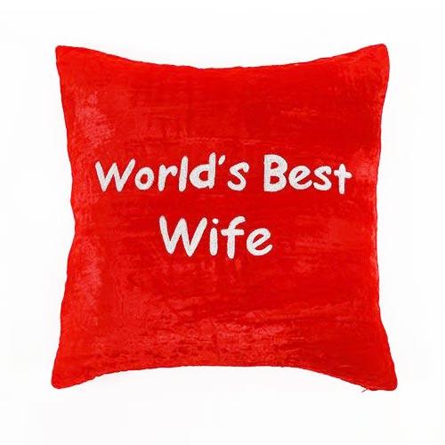 Worlds Best Wife Cushion