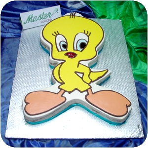 Tweety Bird Cartoon Cake 6 lbs