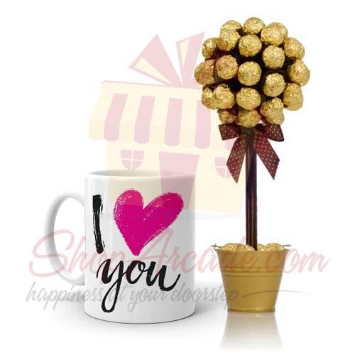 Love Mug With Choc Tree