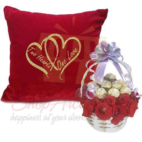 Cushion With Ferrero Rose Basket