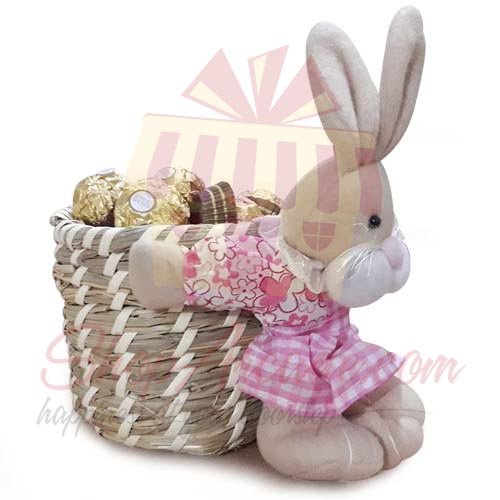 Send By Occasion Cuddly Chocolate Basket Gift To Pakistan Item 8180