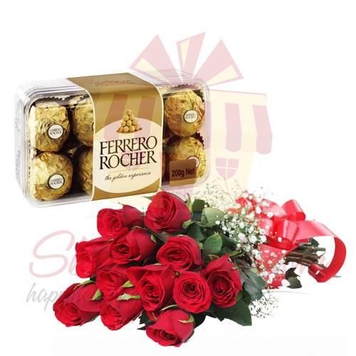 Ferrero With 12 Roses