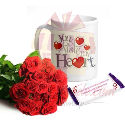 Roses Mug n Custom Chocs