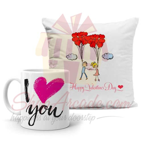 Mug With Couple Cushion