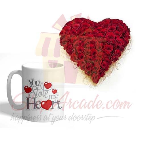 Rose Heart With Mug