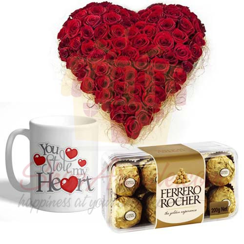 Rose Heart Mug And Rochers