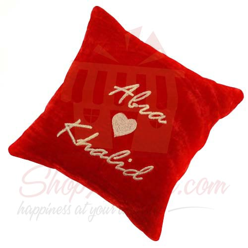 Couple Velvet Cushion