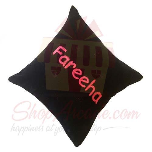 Name Velvet Cushion