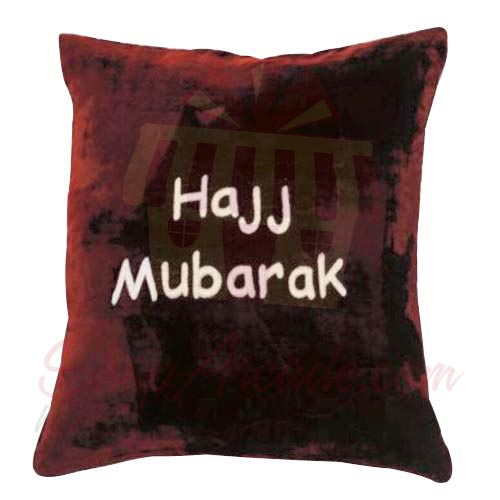 Hajj Mubarak Velvet Cushion