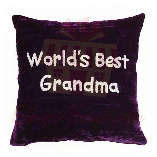 Grandma Velvet Cushion