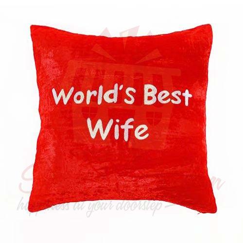 Wife Velvet Cushion